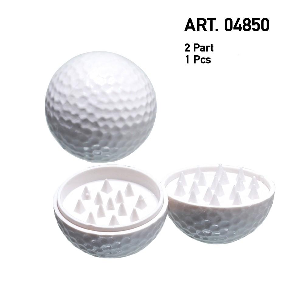 Golfbal Grinder Effen Wit - 2 delen