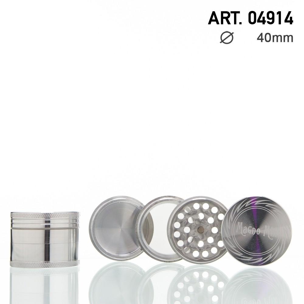 Magno Mix Grinder - 4-delig - Ø: 40mm - Zilver