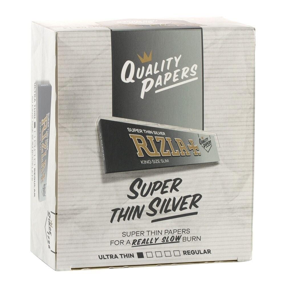 Rizla | Silver King Size Slim Vloei 32 blaadjes per boekje