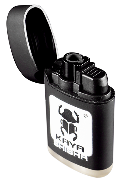 V-Fire Aansteker Rubber Zwart met 3D Kaya Shisha logo