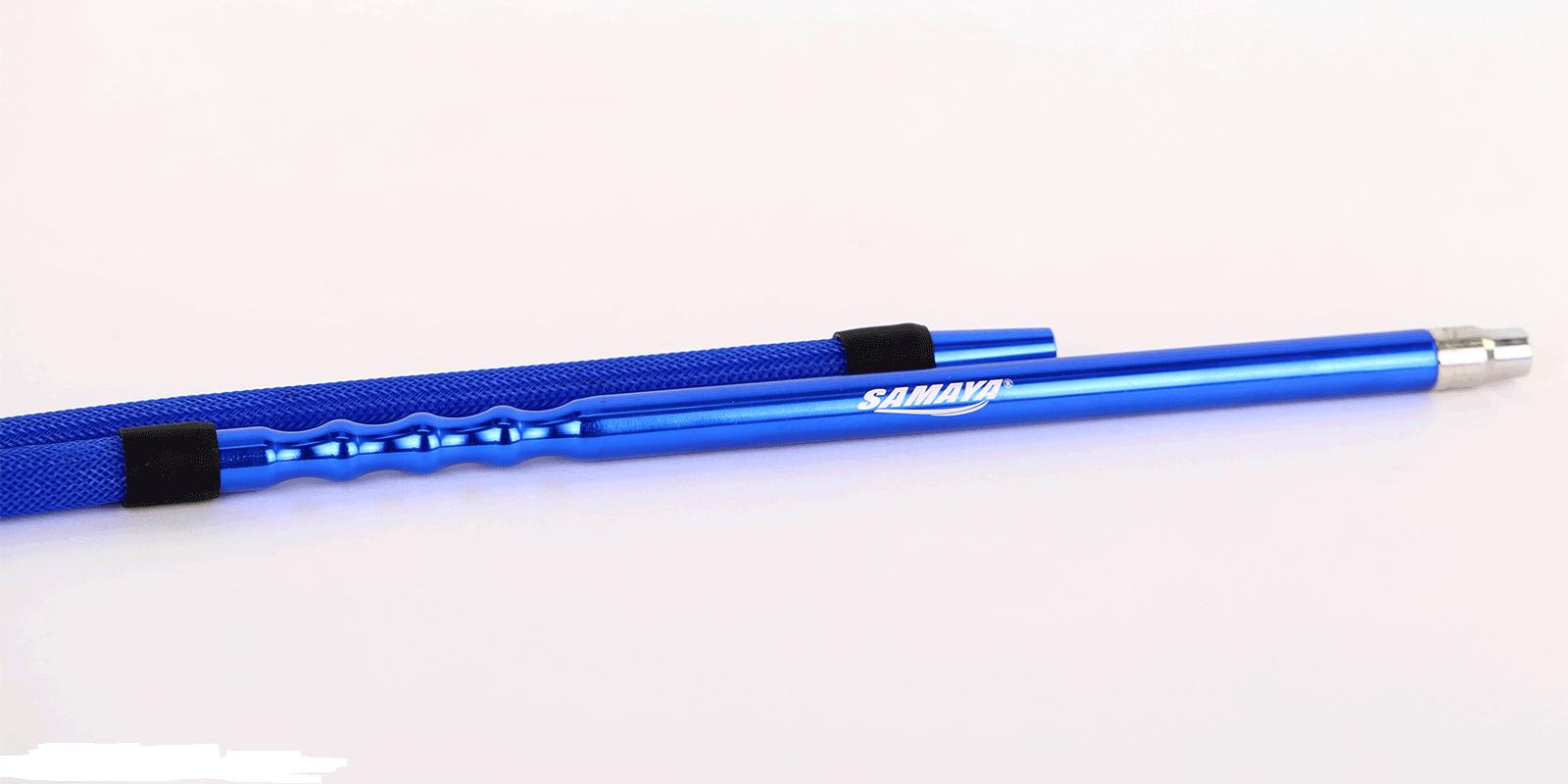Samaya Siliconeslang met nylon omhulsel Blauw