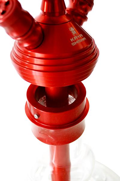 Kaya Shisha Clear ELOX 480 BORO Gunray Cut Red 2S