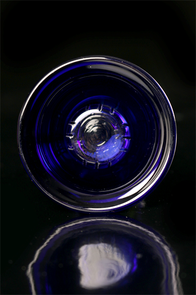 Disc-4tex Glass Bowl Blue 73110