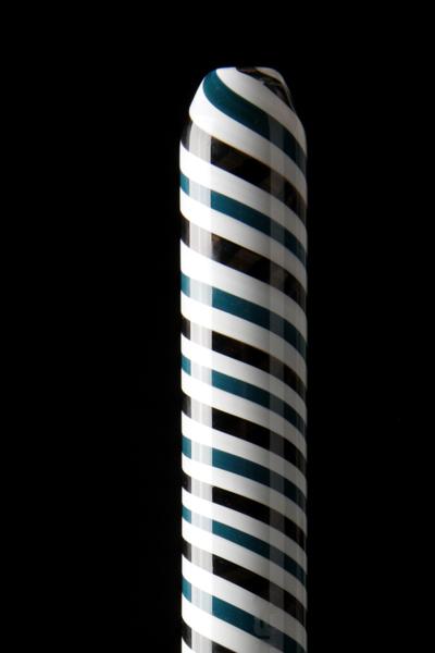 Glazen mondstuk voor siliconeslang Kaya Loop Black Blue White 650808