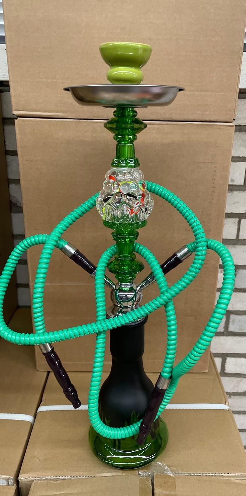 Waterpijp starterspakket Flame Deluxe 55cm in diverse kleuren!