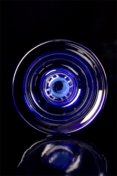 Kaya glazen waterpijpkom met Removeable 4Tex, blue 63792