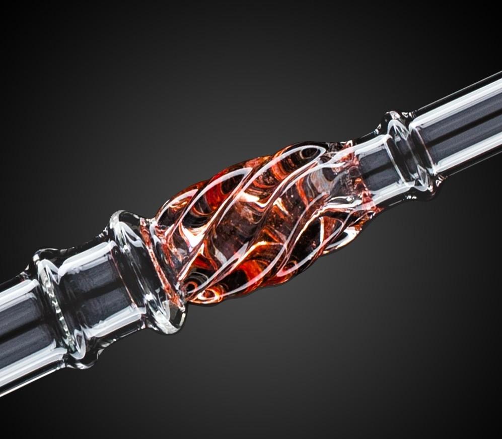 Glazen mondstuk KS Minea Pro Red 50 cm 15224