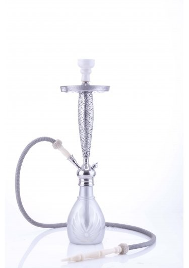 Waterpijp Aladin Bangkok 69 cm zilver W527si