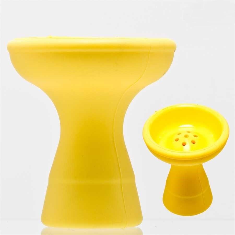 Waterpijp silicone tabakskom geel 12501Y