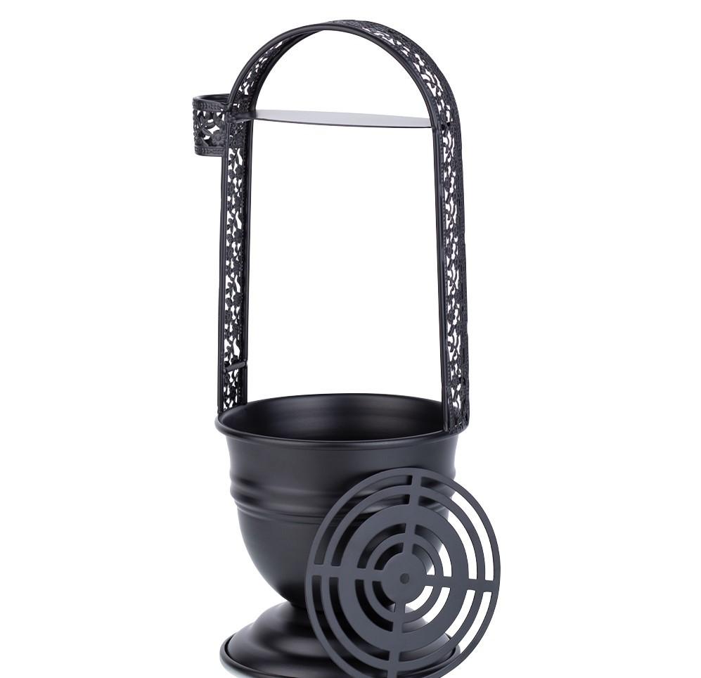 Kolendrager + rooster Zwart (houtskoolcontainer)