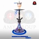 Amy DeLuxe Shisha 056R PSMBK BU Middle Globe R Blue