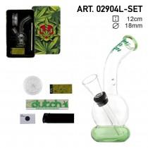 Complete set Greenline Bong giftset met 1x Bong - 1x Grinder - 1x aansteker - 5x scherm - 1x KS R 02904L-SET