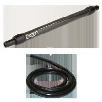 Zwarte Aeon Carbon silicone waterpijpslang