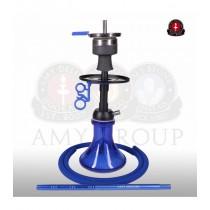 Amy 116.03 Alu Mini Bag Blauw (mat zwarte zuil)