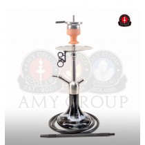 Amy DeLuxe Shisha waterpijp Little Feather Black SS11 BK