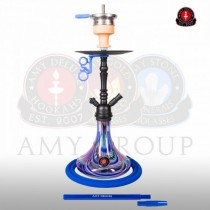 Amy DeLuxe Shisha 056R PSMBK BU Middle Globe R Blue