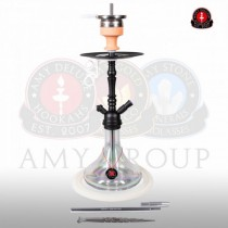 Amy DeLuxe Shisha 056R PSMBK TR Middle Globe R Clear