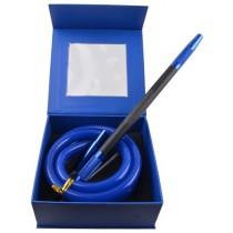 Amy Deluxe Siliconeslang Compleet AS02 Zwart met Blauw