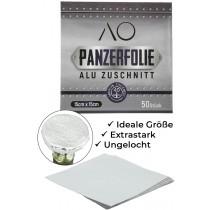 AO panzerfolie aluminium gesneden 15 x 15cm