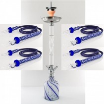 Waterpijp-Set Lava Double Twist 4 slangen
