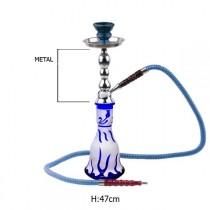 waterpijp Luxor blauw 47 cm