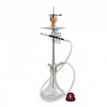 Waterpijp Amy DeLuxe Shisha Feather Steel SS05-Clear