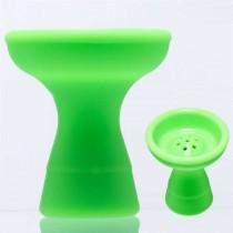 Waterpijp silicone tabakskom groen 12501G
